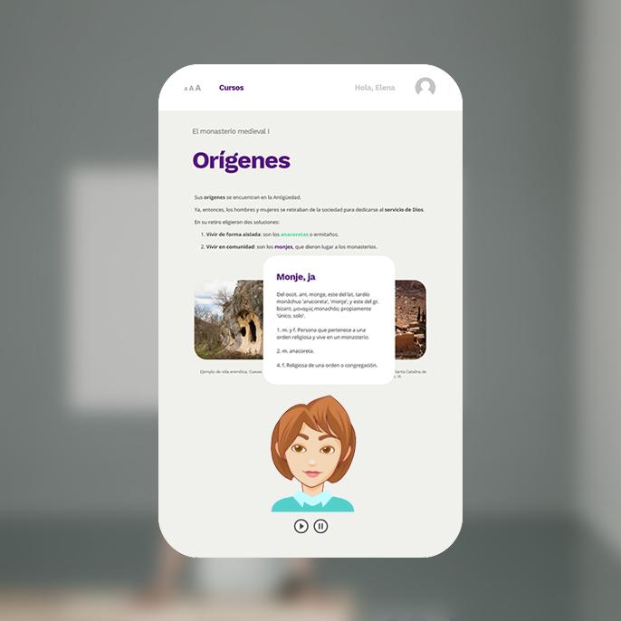 Desarrollo VLE con avatar y lector de textos