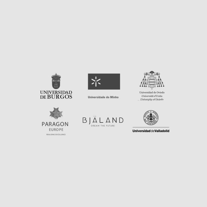 Logos de los socios del VLE con avatar y lector de textos